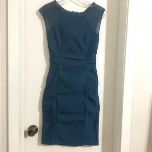 Fitted Cocktail Dress w/t Mesh Size 6
